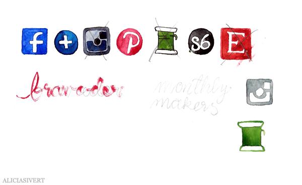aliciasivert, alicia sivertsson, bloggheader, blog header, facebook, instagram, pinterest, bloglovin, craftgawker, society6, icons, icon, ikon, ikoner, målning, akvarell, aquarelle, painting