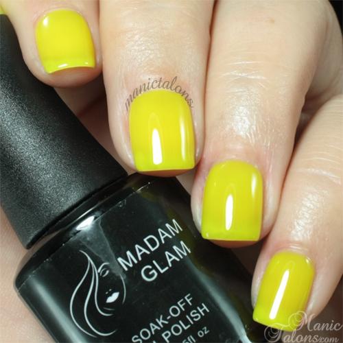 Madam Glam #332 Neon Yellow Swatch