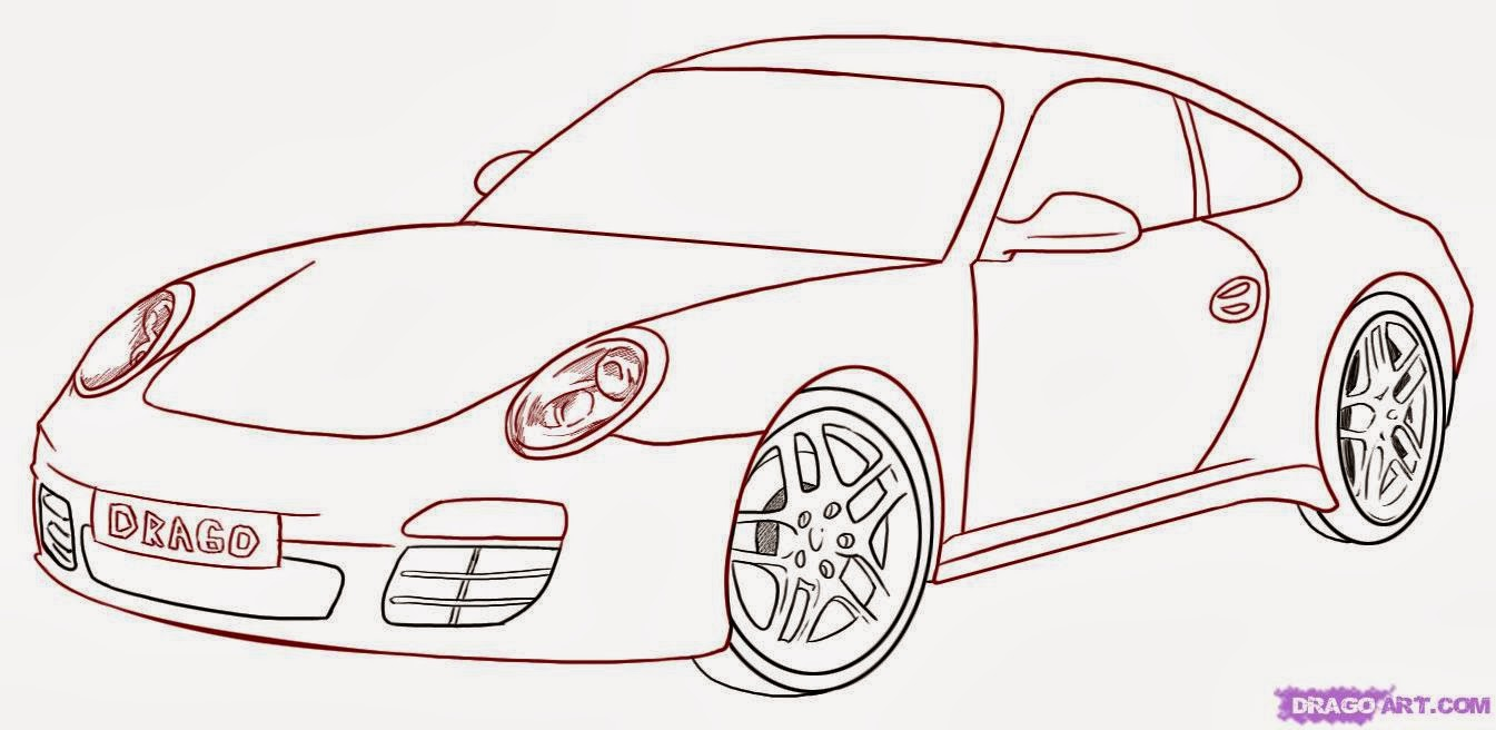 how to draw car design