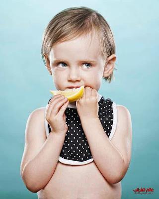 مذاق الليمون، صور الأطفال، العجائب والغرائب