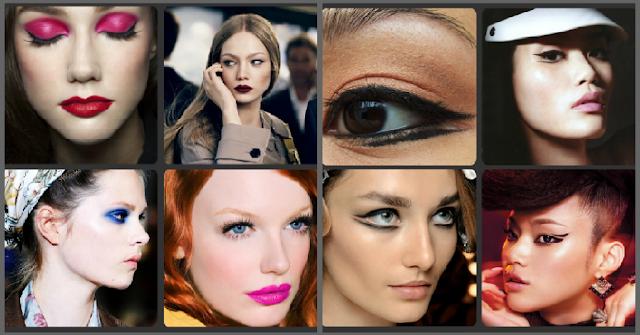 makeup trends, pink lip, blue eyeshadow, pink eyeshadow, winged eyeliner