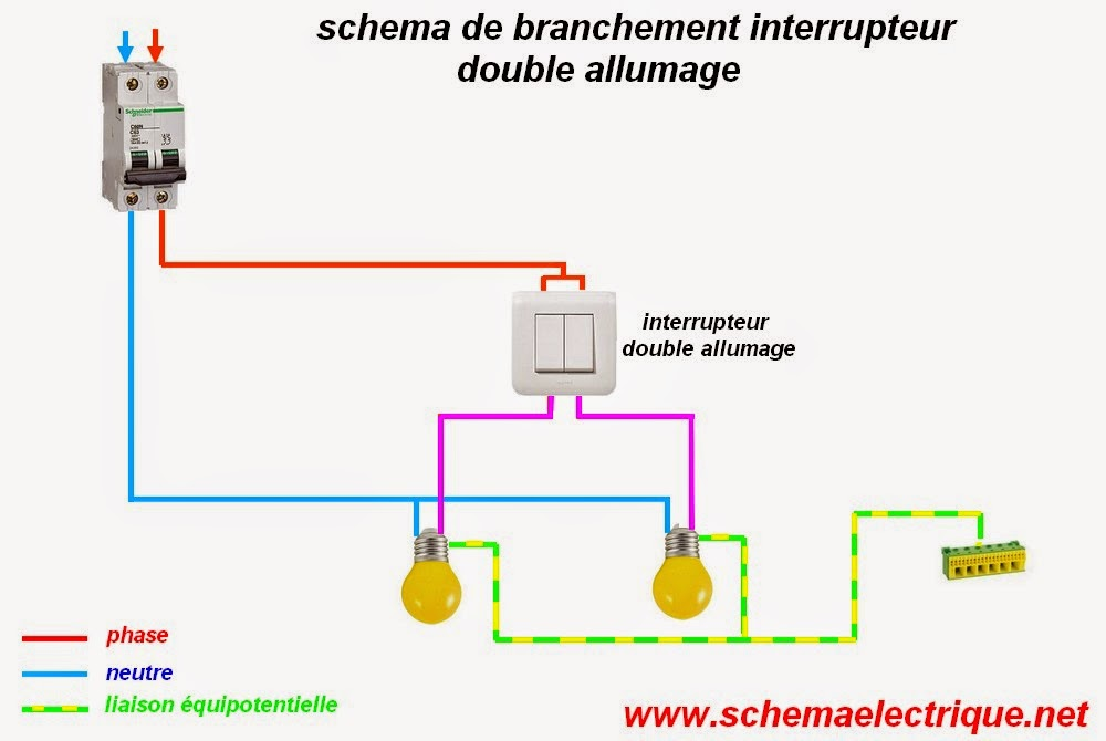 R solu branchement d 39 un interrupteur double communaut leroy merlin - Brancher un interrupteur double ...