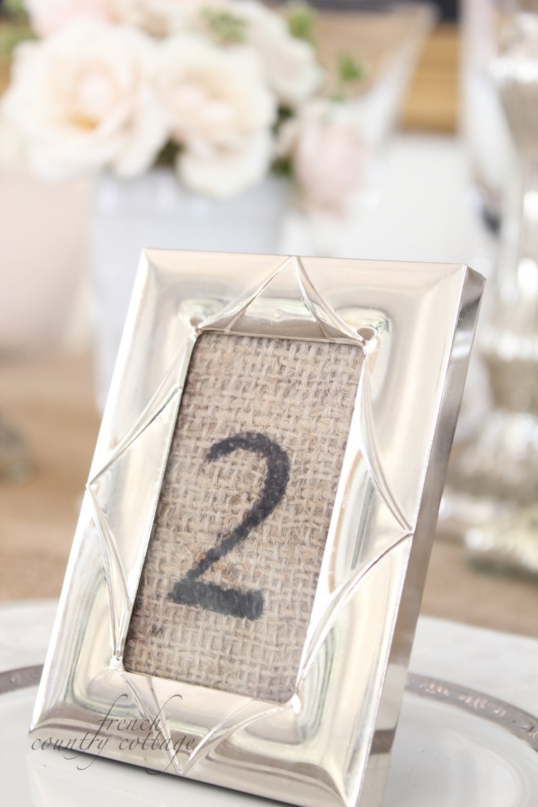 Burlap place settings - FRENCH COUNTRY COTTAGE