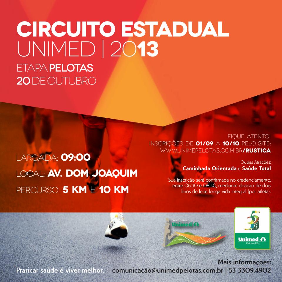 Circuito Unimed : Apaixonado por corrida vamos correr juntos circuito