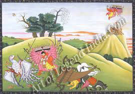 Ravana abducting Sita