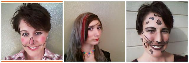 Halloween Makeup, Scarecrow makeup, Leopard makeup, Halloween