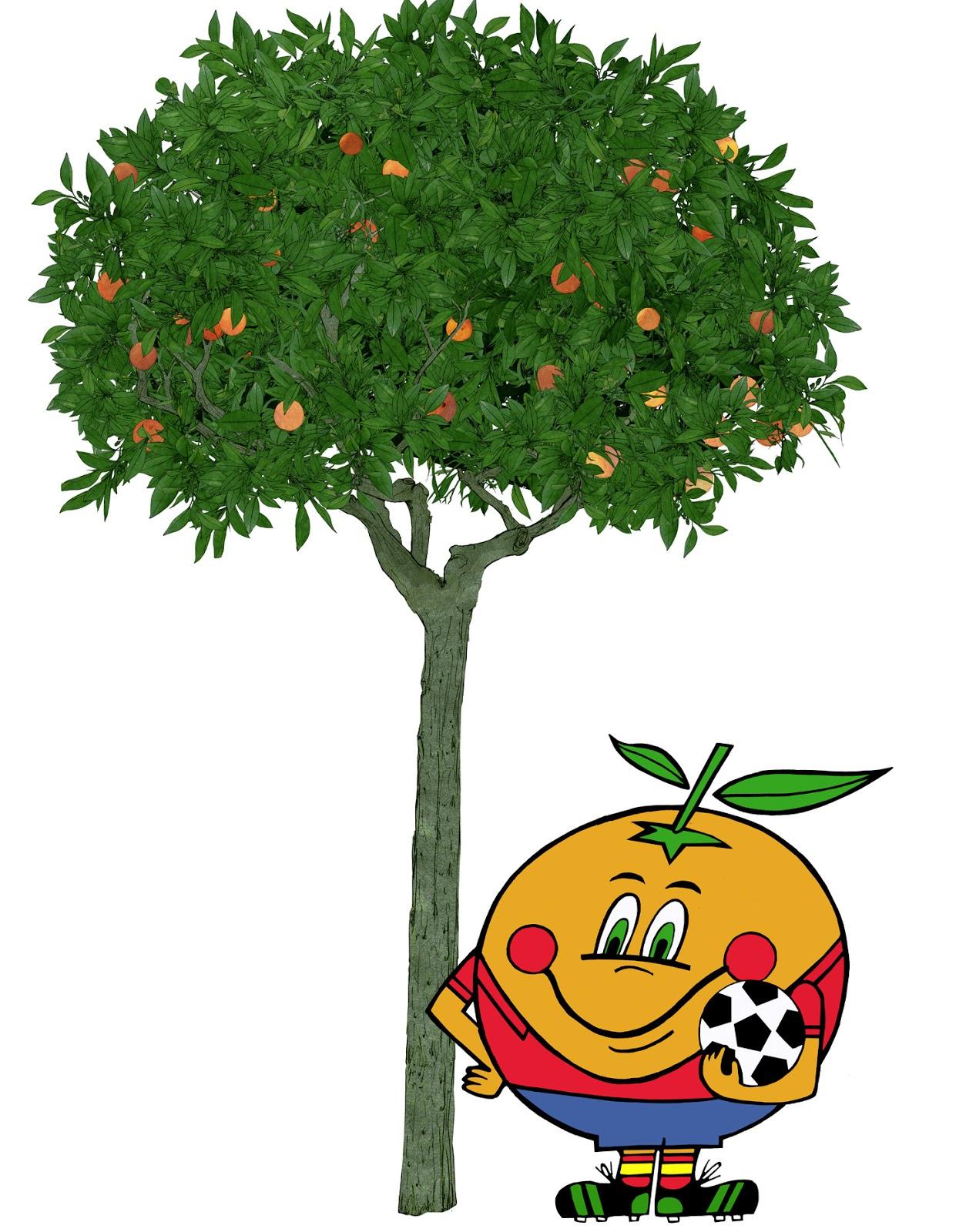 Naranjo,mascota, arbol frutal, naranjito, dibujo