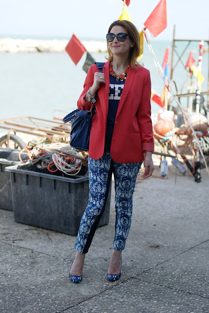 Zara orange blazer, Balenciaga cobalt blue, Icone shoes, Fashion and Cookies