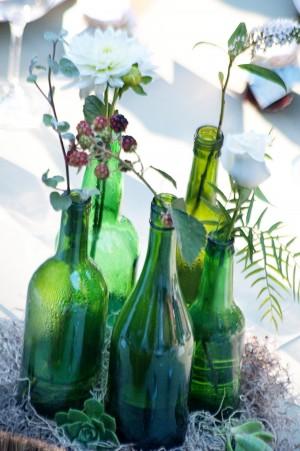 Paso paso que me caso decoraci n mesas parte ii for Glass bottle centerpiece ideas