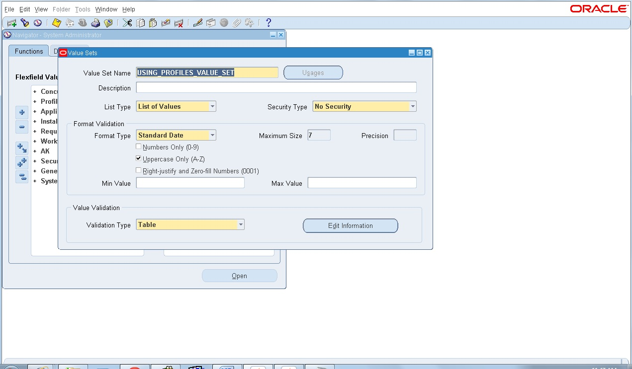 My oracle world using profiles in value sets in oracle for Table design oracle