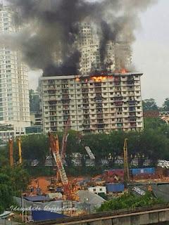 Flat PKNS Kampung Kerinci Terbakar