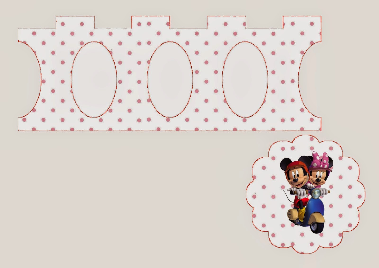 Mickey y Minnie: Free Printable Mini Cupcake Stand.
