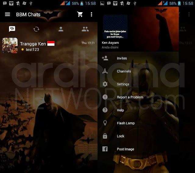 Preview BBM Batman Begins - BBM Android V2.10.0.35