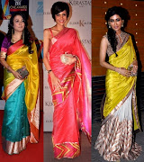 Minin Mathur is wearing a traditional silk saree, Mandira Bedi is in saree .