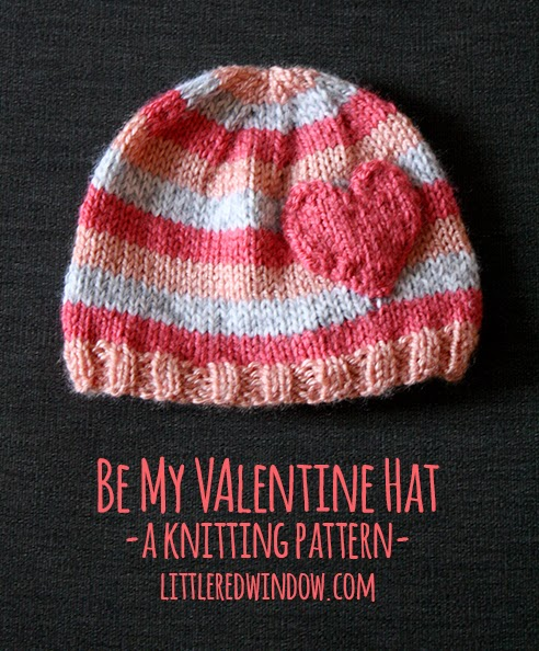 Valentine Hat Knitting Pattern