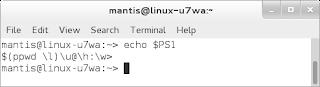 echo PS1