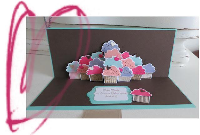 Yummi cup cakes - Geburtstagskarte pop up ...