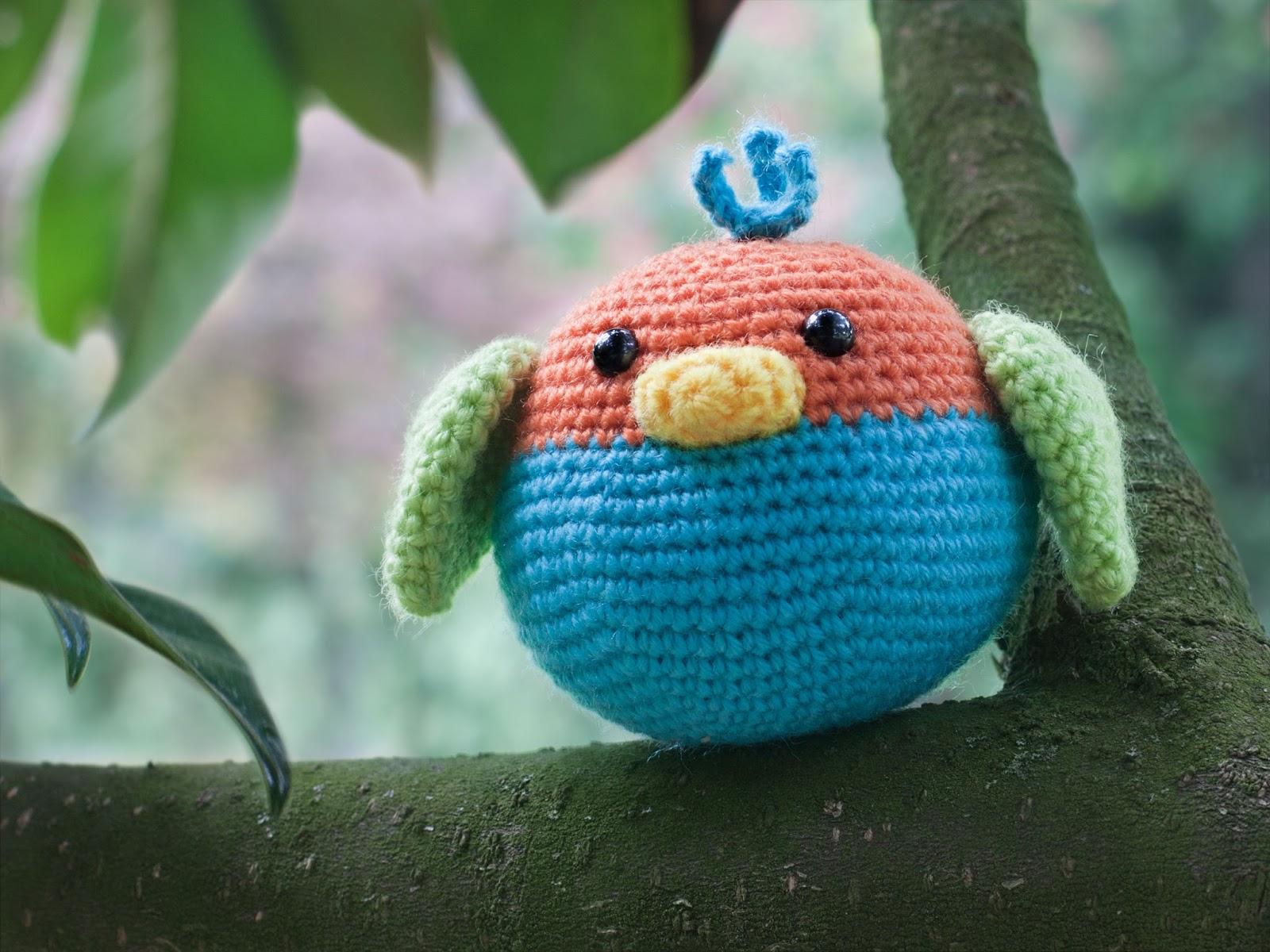 amigurumi-pajaro-bird