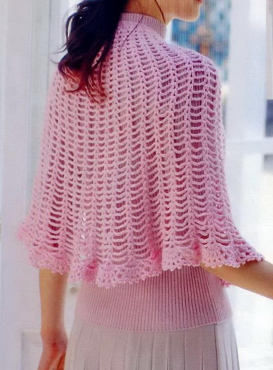 Stylish Easy Crochet Crochet Cape Free Pattern Simple And Beautiful