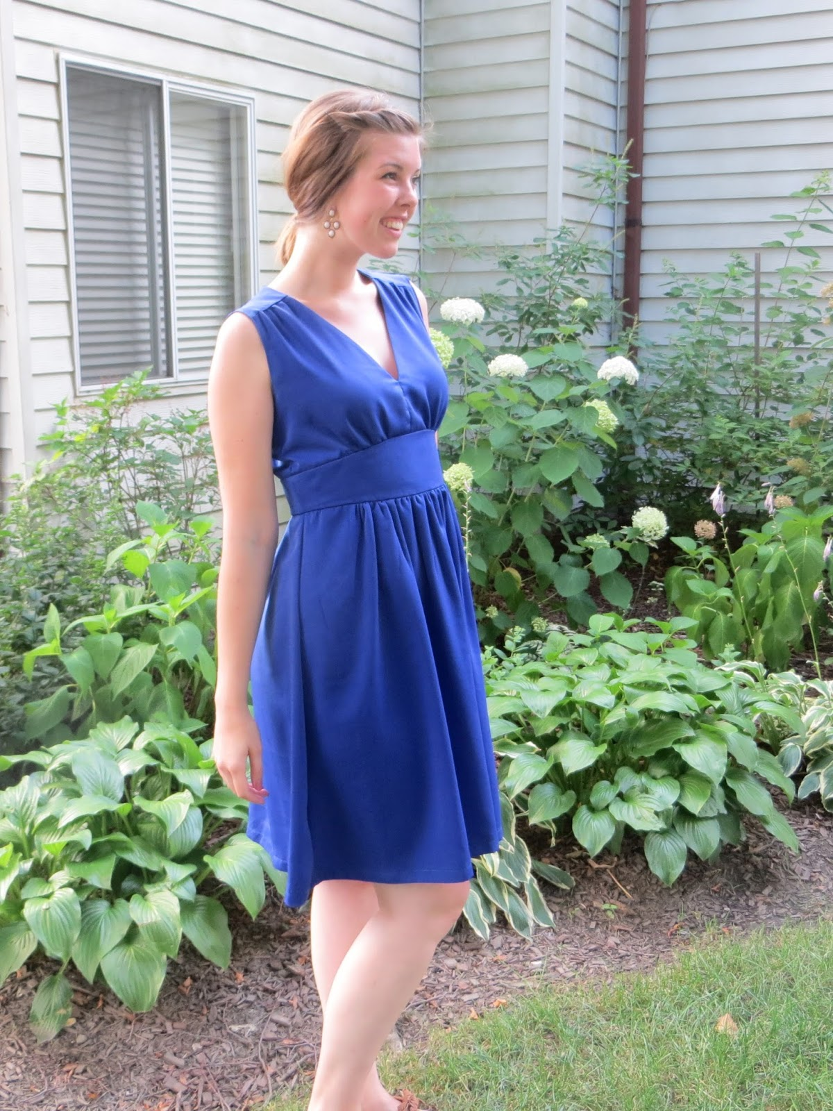 The quirky peach royal blue wedding guest dress for Blue dress for a wedding guest