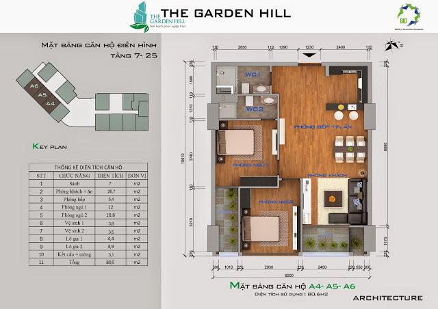mat bang a4 chung cu garden hill
