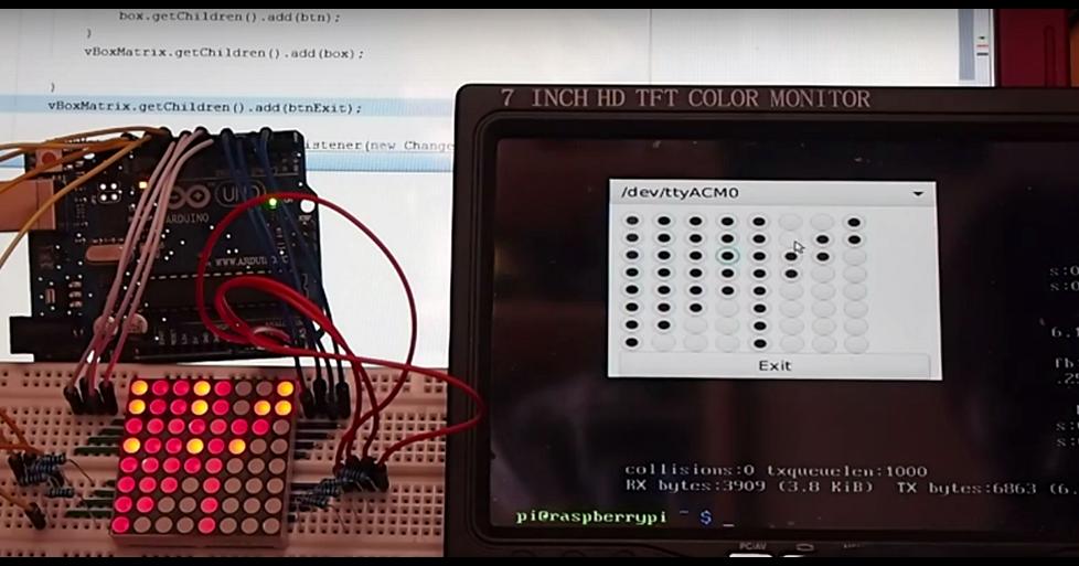 Arduino er raspberry pi control led matrix