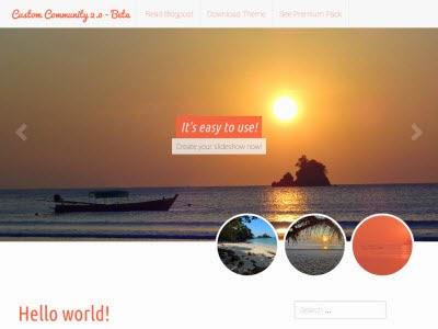 Custom Community 2 – WordPress Theme