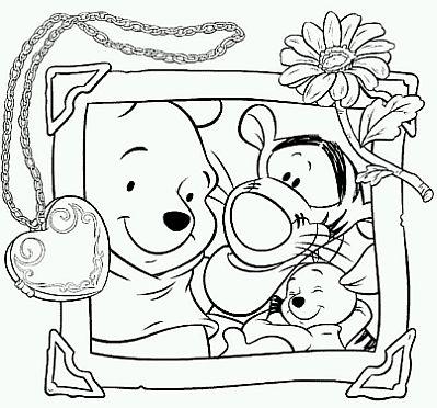 Imagenes de Winnie Pooh para colorear – Dibujitos Para