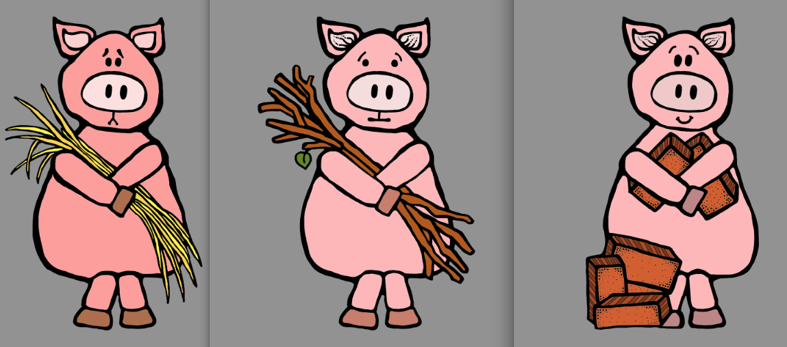 Pigs Clipart Have the pigs wearing big