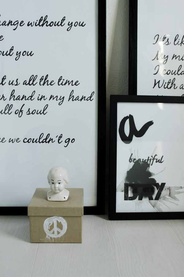 artprints i svart och vitt, prints med text, tavlor i svart och vitt, coola tavlor, snyggt på väggen, personliga tavlor, låttext på tavla, del av låttext, tavlor, prints, posters