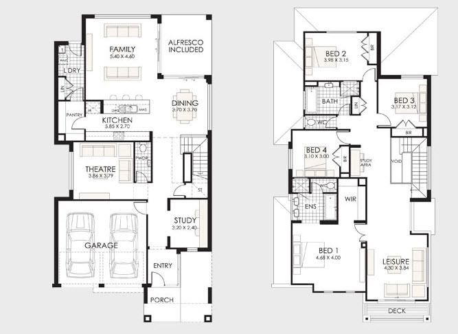 Planos de casas de dos pisos construye hogar for Planos de casas de dos pisos