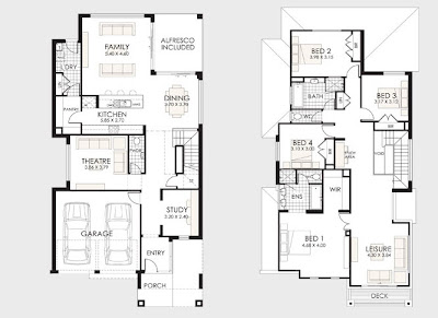 Planos de casas de dos pisos construye hogar for Planos arquitectonicos de casas modernas