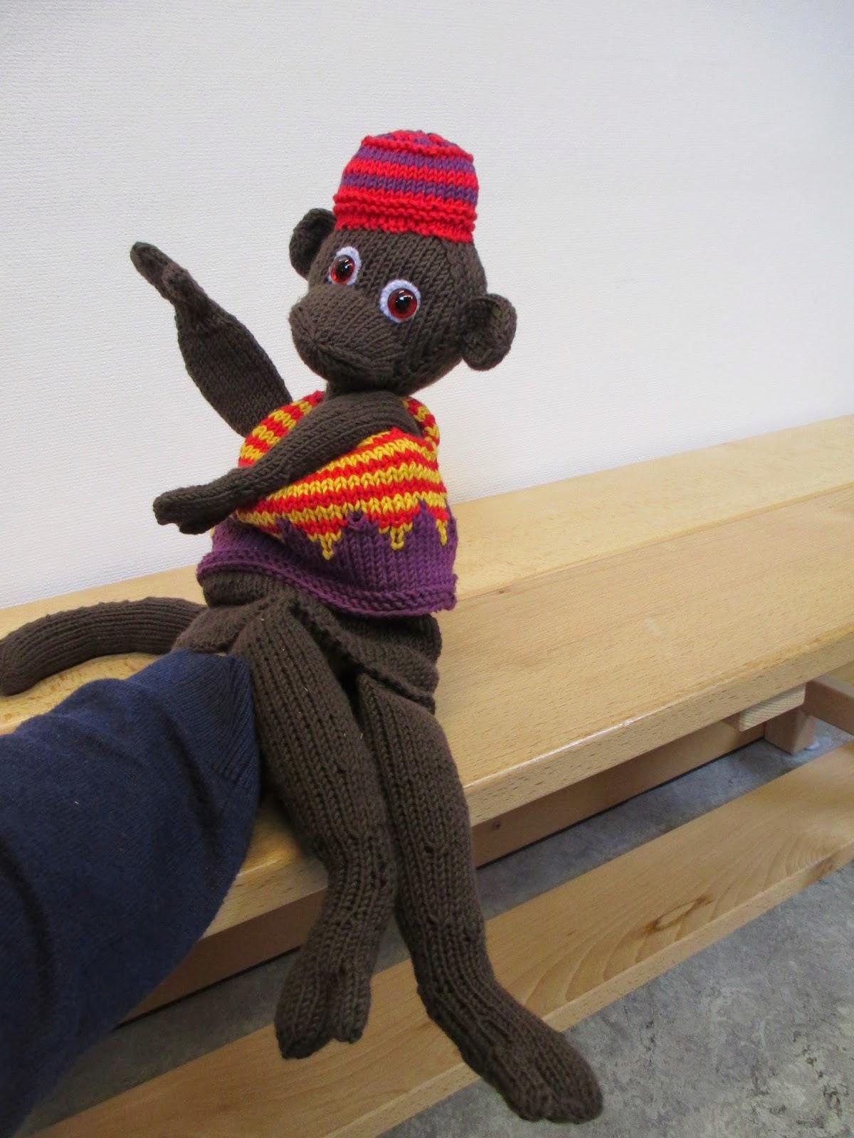 Handpuppe Affe selbst gemacht