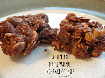 Gluten-Free, Refined-Sugar Free Maple Walnut No-Bake Cookies
