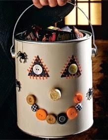 Canasta para Halloween con Lata y Botones, Tutorial