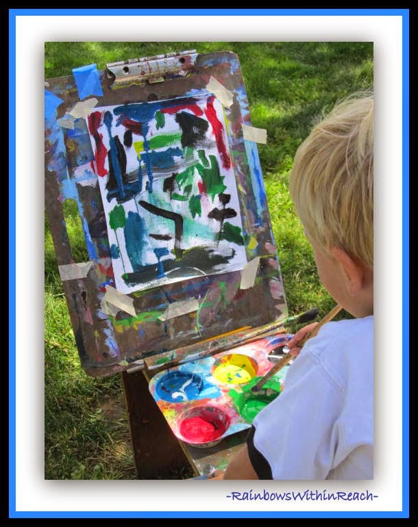 Children at the Easel and Creativity: RainbowsWithinReach RoundUP