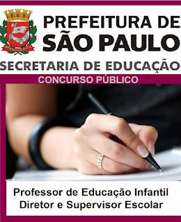 Apostila SME Educação/SP, Professor de Educação Infantil de São Paulo