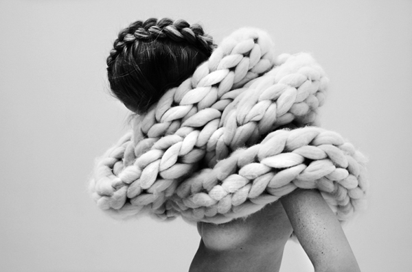 High Fashion Knitting : The fuzzy corner knits more or less