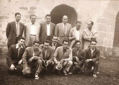 Ajedrecistas participantes en el Torneo de Ajedrez de La Pobla de Lillet, 1956