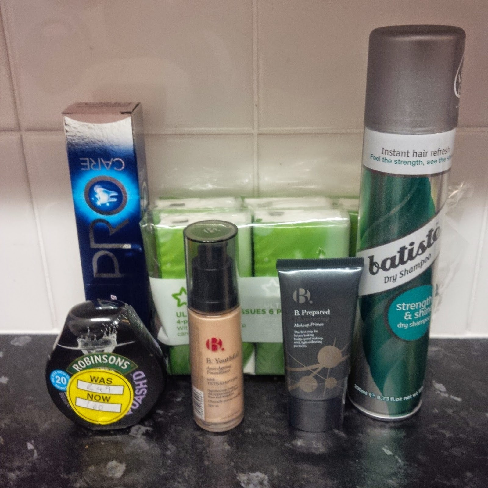 products bought from superdrug incl foundation