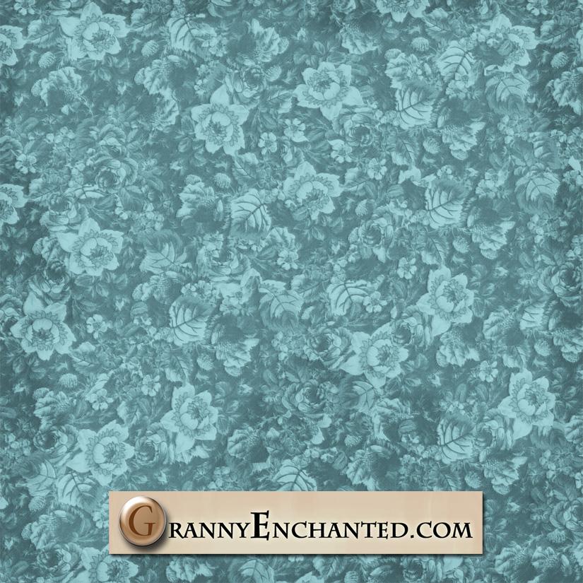 Granny Enchanteds Paper Directory Free Teal Floral Digital