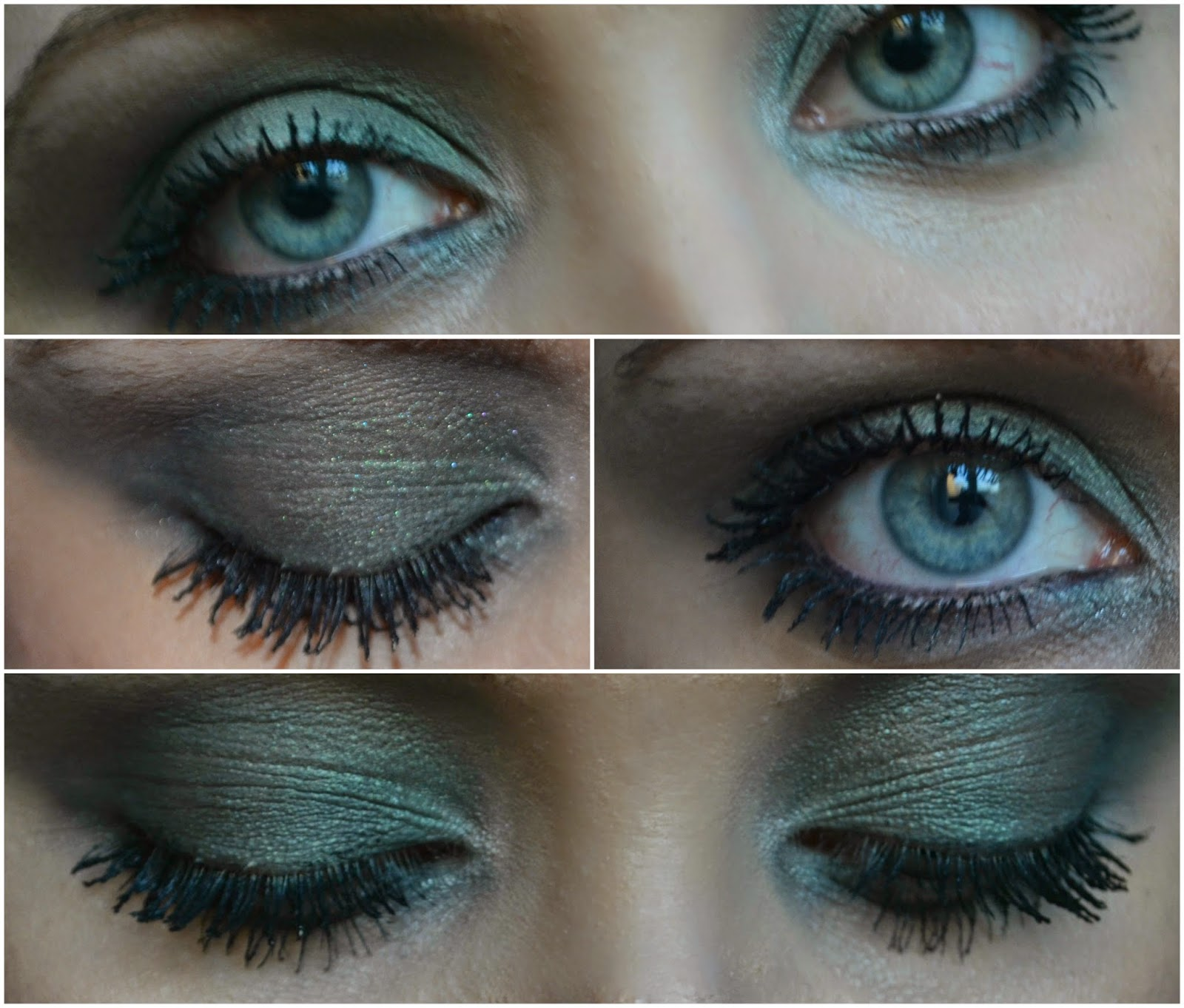 Super Tease Flutter Pout : Green smokey eyes with Yves Rocher JN26