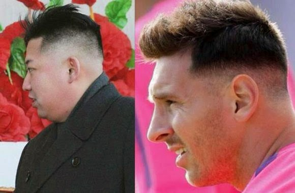gaya rambut Messi