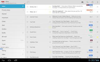 App de Gmail que simula el Android 4.0