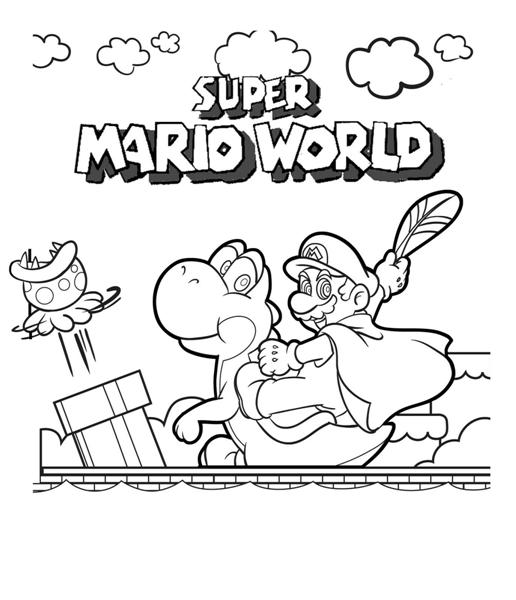 mario 64 coloring pages - photo#10