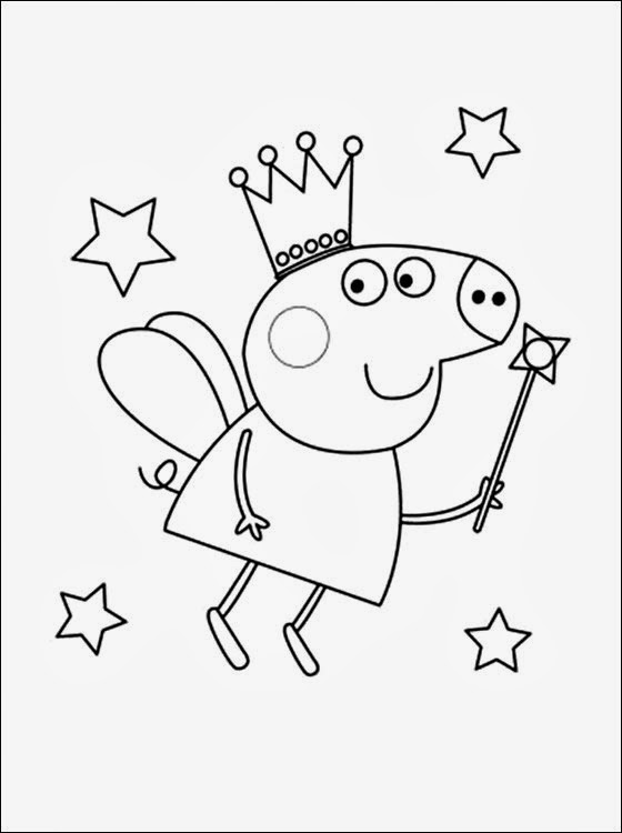Dibujos de Peppa para Colorear, parte 1