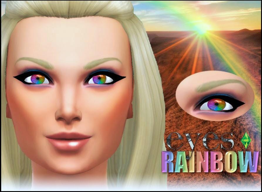 My Sims 4 Blog: Rainbow Eyes by Pinkzombiecupcake