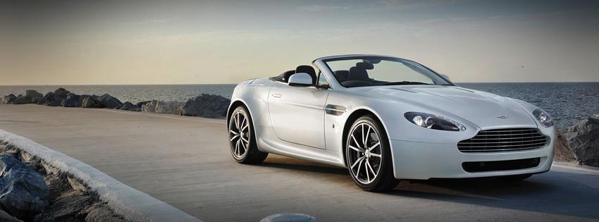 Beyaz Aston Martin kapak resimleri