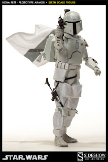 "Sideshow Collectibles 1/6 Scale Star Wars 12"" Prototype Armor Boba Fett Figure"