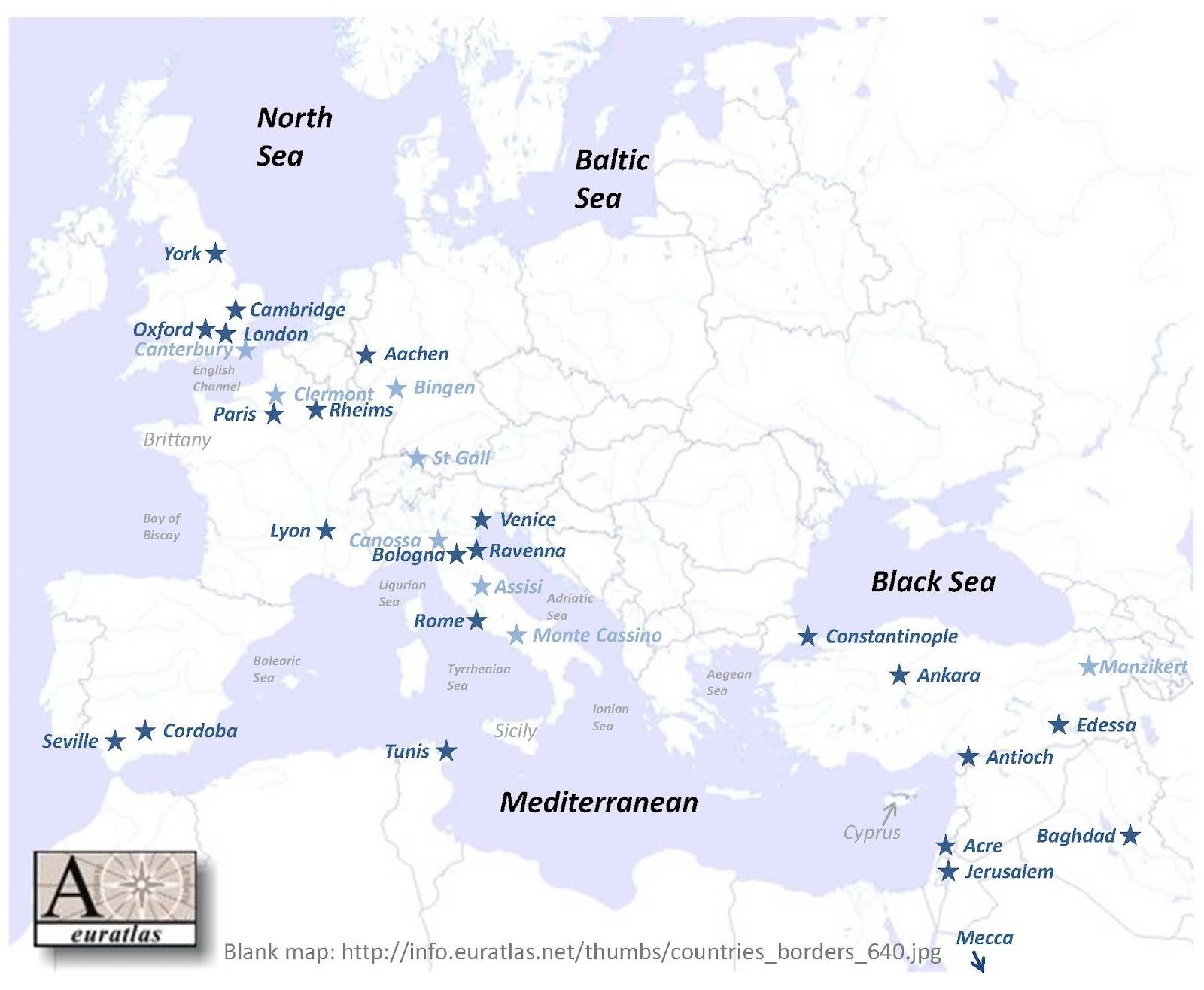 Med Europe Tutorial 4 Map of Medieval Europe